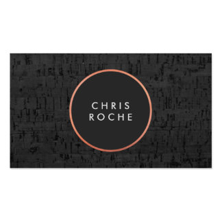 Cool Stylish Copper Circle Emblem Black Cork Board Double-Sided Standard Business Cards (Pack Of 100)