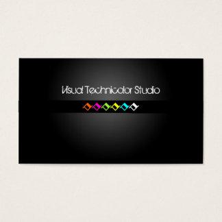 Cool / Stylish fluorescent diamond shapes Business Card