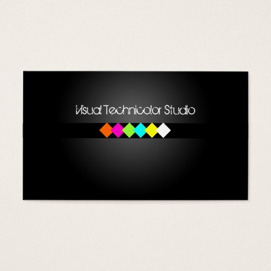 Cool / Stylish fluorescent diamonds Business Card