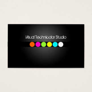 Cool / Stylish fluorescent dots Business Card