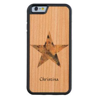Cool Stylish Granite Rock Star Custom Handmade Carved Cherry iPhone 6 Bumper Case