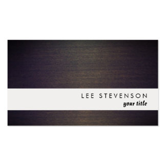 Cool Stylish Modern Woodworker Craftsman Business Card