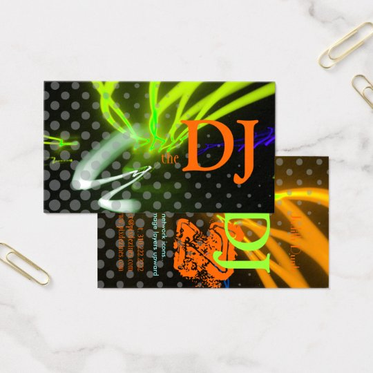 Cool / Stylish neon lights/fluorescent colors Business Card