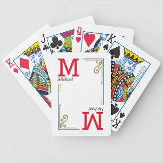 cool stylish player initials - personalized bicycle playing cards