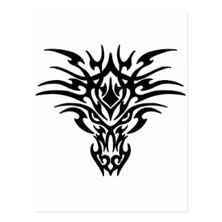 Cool Stylized Black Dragon's Head Postcard