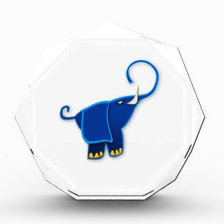 Cool Stylized Blue Elephant Acrylic Award