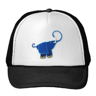 Cool Stylized Blue Elephant Trucker Hat