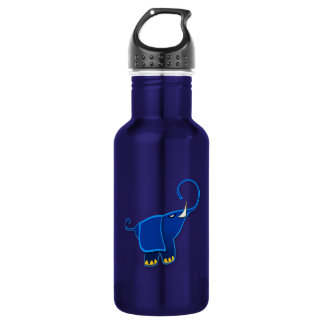 Cool Stylized Blue Elephant Water Bottle