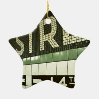 Cool Subway Double-Sided Star Ceramic Christmas Ornament