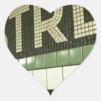 Cool Subway Heart Sticker
