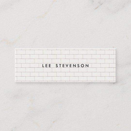 Cool subway tile pattern white business card zazzle cool subway tile pattern white business card colourmoves