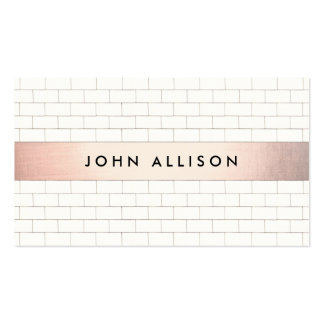 Cool Subway Tile Personal Chef and Catering 2 Business Card