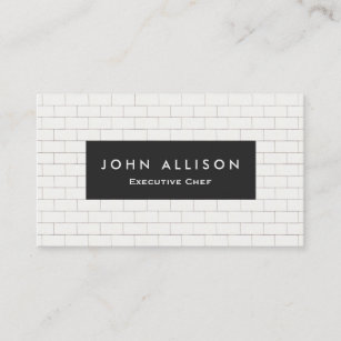 Subway business cards templates zazzle cool subway tile personal chef and catering business card colourmoves