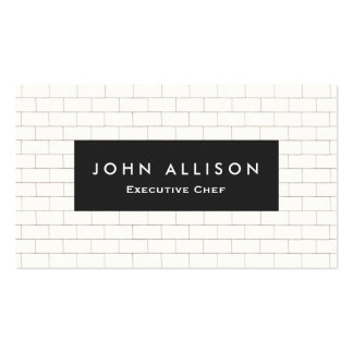 Cool Subway Tile Personal Chef and Catering Double-Sided Standard Business Cards (Pack Of 100)