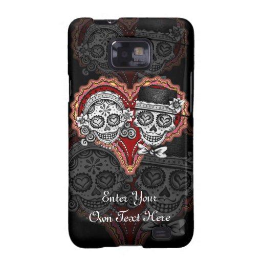 Cool Sugar Skull Couple Samsung Galaxy S2 Case