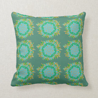 Cool Summer Abstract Flower Cushion Throw Pillow