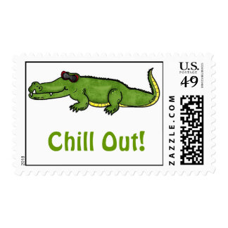 Cool Summer Alligator Chillin OUt Postage