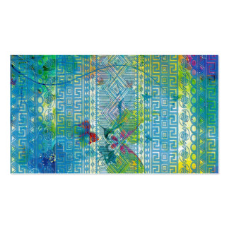 cool summer colours Aztec soft blue pattern Business Cards