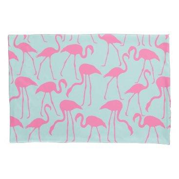 Beach Themed Cool Summer Flamingo Pattern Pillowcase