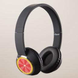 Cool Summer Grapefruit Slice Novelty Fruit Headphones
