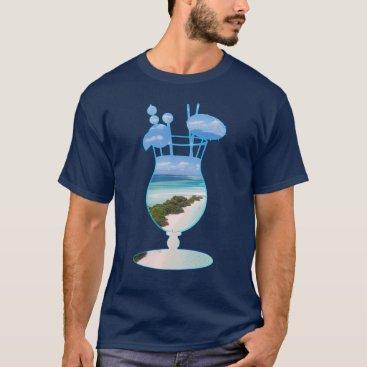 Cool Summer Islands Ocean Beach Palms And Sand T-Shirt