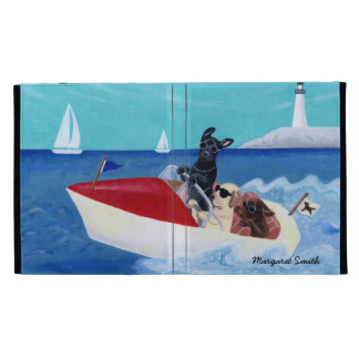 Cool Summer Labradors Painting iPad Folio Covers