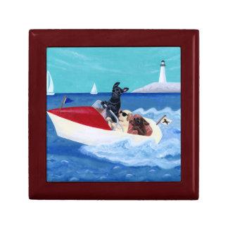 Cool Summer Labradors Painting Trinket Box