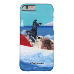 Cool Summer Labradors Painting iPhone 6 Case