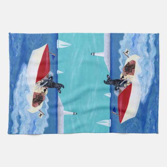 Cool Summer Labradors Painting Kitchen Towel