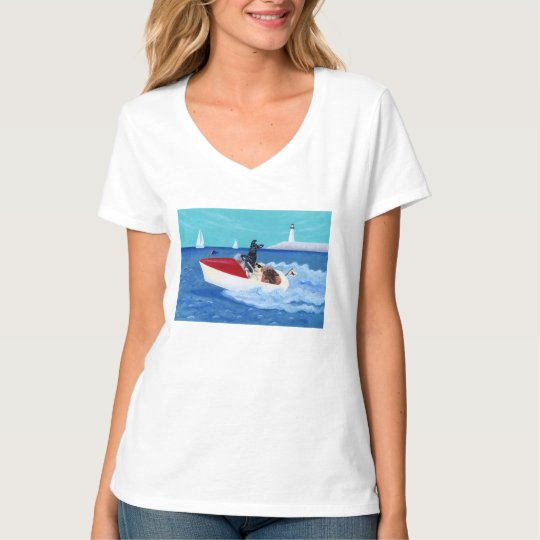 Cool Summer Labradors Painting T-Shirt