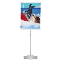 Cool Summer Labradors Painting Table Lamp