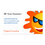 Cool Summer Sun Double-Sided Standard Business Cards (Pack Of 100)