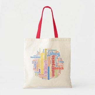 Cool summer text art canvas bags