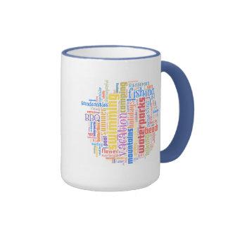 Cool summer text art ringer coffee mug