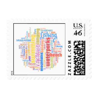Cool summer text art stamps
