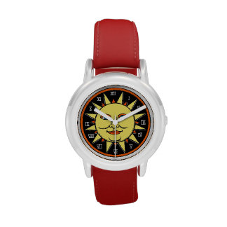 Cool Sun Sign With Roman Numerals Watch