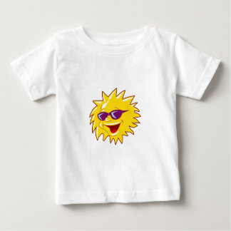 Cool Sun with Sunglasses Baby T-Shirt