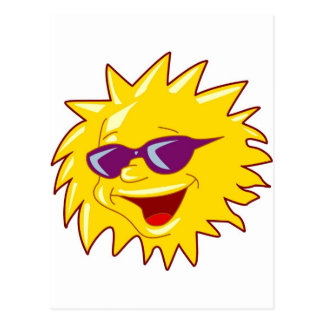 Cool Sun with Sunglasses Postcard
