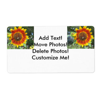 Cool Sunflower Plant Shipping Label