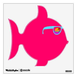 Cool Sunglasess on A Fish Wall Decal