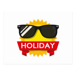 Cool sunglass sun postcard