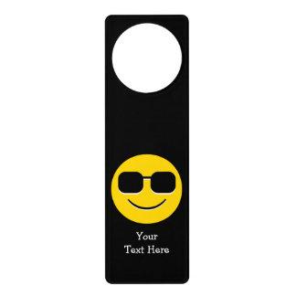 Cool Sunglasses Emoji Guy Door Hanger