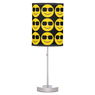 Cool Sunglasses Emoji Guy Table Lamp