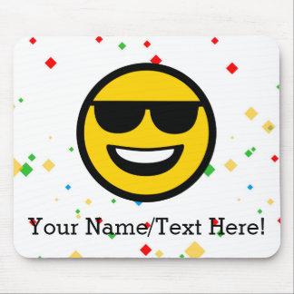 Cool Sunglasses Emoji Mouse Pad