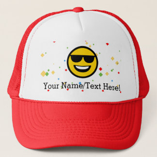 Cool Sunglasses Emoji Trucker Hat