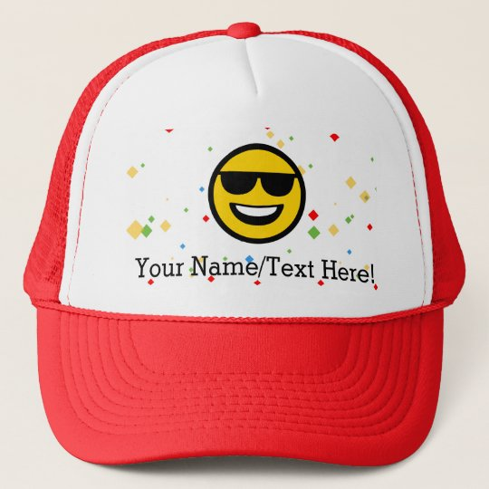 26da0aefa Cool Sunglasses Emoji Trucker Hat
