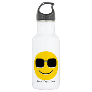 Cool Sunglasses Emoji Water Bottle
