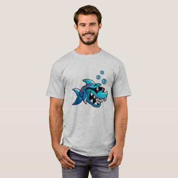 Beach Themed Cool Sunglasses Tough Shark, T-Shirt