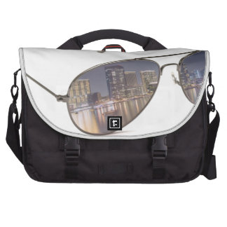 cool sunglasses with cityscape reflection commuter bags