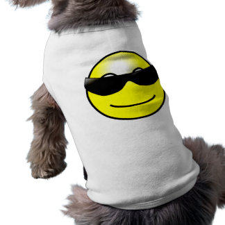 Cool Sunglasses Yellow Smiley Face Dog Shirt